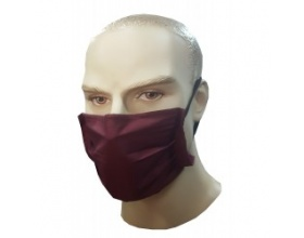 Μάσκα προστασίας υφασμάτινη 100% βαμβακερή χρώμα μπορντό 1 τεμάχιο