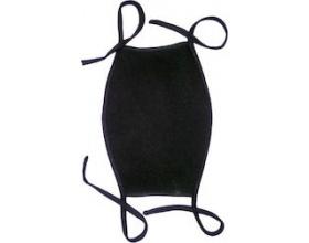 Μάσκα Υφασμάτινη Πλενόμενη Μάυρη με Κορδόνι, 1τμχ