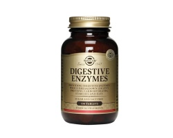 SOLGAR Digestive Enzymes  Ποικιλία ενζύμων, τα οποία βοηθούν στην πέψη πρωτεϊνών, υδατανθράκων και λιπών, 100 ταμπλέτες