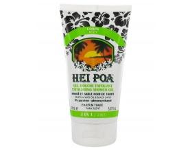 HEI POA Exfoliating Shower Gel Monoi, Peeling Σώματος από Κόκκους Μαύρης Άμμου, Παπάγια, Καρύδα & Tamanu, 150ml