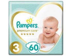 Pampers Premium Care Πάνες Μέγεθος 3 (Midi) 5-9 kg, 60 Πάνες