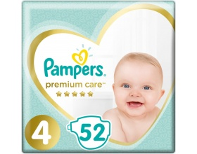 Pampers Premium Care JUMBO PACK Πάνες Μέγεθος 4 (Maxi) 8-14 kg, 52 Πάνες