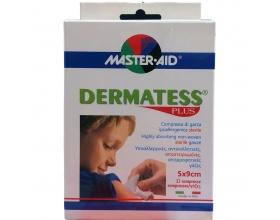 MASTER AID Dermatess Plus Αντικολλητικές γάζες 5x9cm 12τμχ