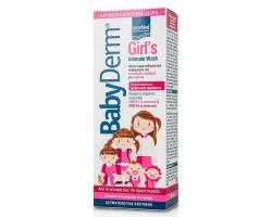 Intermed BabyDerm Girl's Intimate Wash Απαλό υγρό καθαρισμού της ευαίσθητης περιοχής κοριτσιών μέχρι τη πρώτη έμμηνο ρύση 300ml