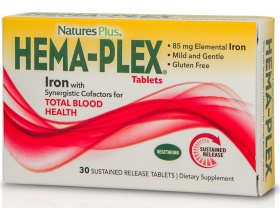 Nature's Plus Hema Plex Σίδηρος, αντιμετώπιση αναιμίας  30 ταμπλέτες