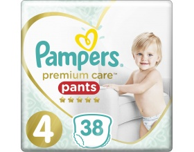 Pampers Premium Care Pants, No 4 9-15Kg 38τμχ.