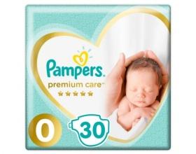 Pampers Premium Care Πάνες Μέγεθος 0-3kg, 30 Πάνες.