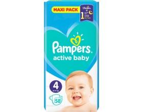 Pampers Πάνες Active Baby Μέγεθος 4 Maxi 9-14Kg, 58 Πάνες.