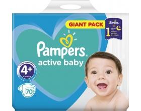 Πανες Pampers Active Baby Giant Pack, Νο4+ 10-15kg, 70 τεμ.