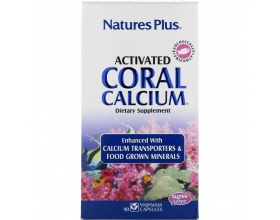 Nature's Plus, Activated Coral Calcium 1000 mg,Φόρμουλα με Εξαιρετικό Απορροφήσιμο Ασβέστιο  90 vcaps