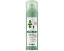 Klorane Ortie Dry Shampoo Ξηρό σαμπουάν με Τσουκνίδα για Λιπαρά Μαλλιά Καστανά/Μαύρα 150ml