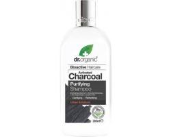 Dr.Organic Charcoal Shampoo Καθαριστικό Σαμπουάν Μαλλιών με Ενεργό Άνθρακα,Καθαρίζει βαθιά, ακαθαρσίες & λιπαρότητα από τα μαλλιά   265ml