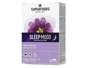 SUPERFOODS Sleep Mood Συμπλήρωμα διατροφής για αυπνία , χαλάρωση & άγχος 30 κάψουλες