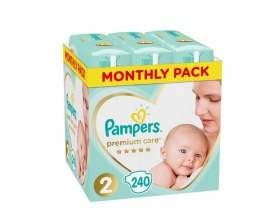Pampers, Premium Care Monthly Box No 2 4-8kg, Βρεφικές Πάνες, 240τμχ.