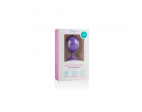 EasyToys Wiggle Duo Kegel Ball - Purple Κολπικές Μπάλες χρώμα μώβ 1 τεμάχιο