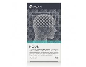 AGAN NOUS Advanced Memory Support Συμπλήρωμα διατρόφης για ενίσχυση της συγκέντρωσης, της σκέψης, της πνευματικής διαύγειας και της μνήμης 30 Φυτικές Κάψουλες