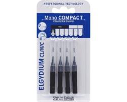 ELGYDIUM Clinic Mono Compact 0.35 Μεσοδόντια βουρτσάκια χρώμα Μαύρο 4τεμ.