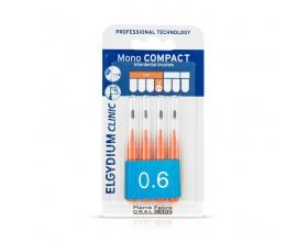 ELGYDIUM Clinic Mono Compact 0.6 Μεσοδόντια βουρτσάκια χρώμα Πορτοκαλί 4τεμ.