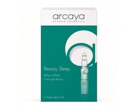 Arcaya Beauty Sleep Αμπούλες Αποτελεσματική βελτίωση στην όψη των ρυτίδων έκφρασης χωρίς ενέσεις ομορφιάς, 5 x 2ml