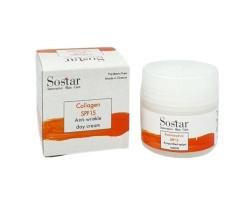 SOSTAR Κολλαγόνο Αντιρυτιδική Κρέμα προσώπου και λαιμού εντατικής αντιγήρανσης SPF15 50ml
