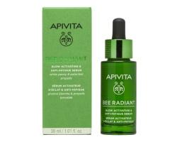 Apivita Bee Radiant Serum Peony, Ορός Ενεργοποίησης Λάμψης για Ξεκούραστη Όψη με λευκή παιώνια & πρόπολη 30ml