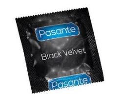 Pasante Black Velvet Προφυλακτικά με μαύρο χρώμα ,μεγάλα 1τμχ
