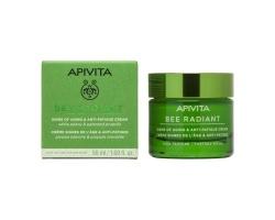 Apivita Bee Radiant Peony Rich Texture, Κρέμα για Σημάδια Γήρανσης & Ξεκούραστη Όψη Πλούσια Υφής με λευκή παιώνια & πρόπολη 50ml