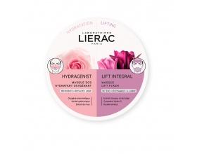 Lierac Hydragenist SOS Moisturizing Oxygenating Mask για Ενυδάτωση, Οξυγόνωση & Επαναπύκνωση & Lift Integral Flash Lift Mask για Αντιγήρανση, Σύσφιξη & Επανασμίλευση, 2*6ml