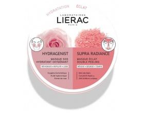 Lierac Duo Masks Hydragenist Masque SOS Hydratant Oxygenant & Supra Radiance Masque Eclat Double Peeling Μάσκες ενυδάτωση & λάμψη 2x6ml