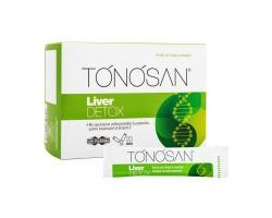 Uni-Pharma TONOSAN Liver DETOX  συμπλήρωμα διατροφής με εκχυλίσματα γαϊδουράγκαθου & μπροκόλου, χολίνη, κουρκουμίνη & βιταμίνη C , 20 φακελίσκοι