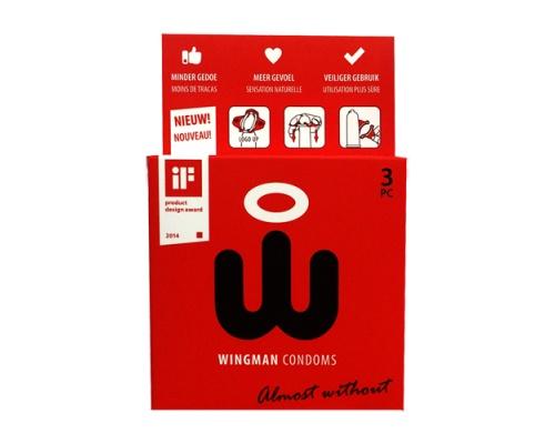 Wingman Προφυλακτικά για Πιο Ασφαλή Χρήση, 3 τμχ