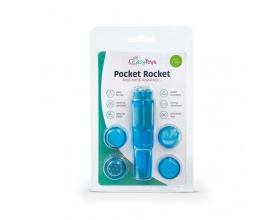 Easytoys Pocket Rocket Δονητής Με Χρώμα Μπλε, 1 τμχ