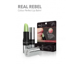 REAL REBEL Colour perfect Lip Balm που ενισχύει και τονίζει το φυσικό χρώμα των χειλιών 3,6g