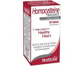 Health Aid Homocysteine Balance, Συμπλήρωμα Διατροφής για φυσιολογικό μεταβολισμό ομοκυστεϊνης με βιταμίνες B6 , B12 60 ταμπλέτες