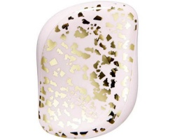 Tangle Teezer Compact Styler Gold Leaf Βούρτσα Μαλλιών, χρώμα ρόζ με χρυσό 1τμχ