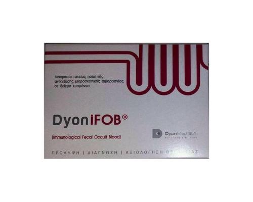 TEST DYON iFOB CLIA για την ανίχνευση μικροσκοπικής αιμορραγίας σε δείγματα κοπράνων, 1 rapid test