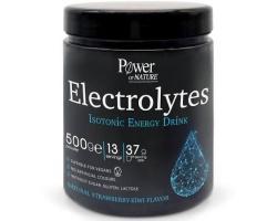 Power OF NATURE Electrolytes Isotonic Energy Drink Iσοτονικό ρόφημα σε σκόνη με ηλεκτρολύτες με φυσική γεύση φράουλα-ακτινίδιο 500γρ