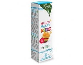 Power OF NATURE Multi + Multi Kids Συμπλήρωμα Διατροφής Πολυβιταμινούχο για παιδιά με γεύση φράουλα  20 αναβράζοντα δισκία