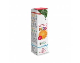 Power OF NATURE Vita-C Kids Stevia Συπλήρωμα διατροφής με βιταμίνη C για παιδιά με γεύση Ροδάκινο - Φρούτο του Πάθους 20 αναβράζοντα δισκία