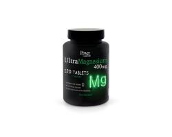 Power OF NATURE UltraMagnesium 400mg Συμπλήρωμα Διατροφής Μαγνήσιο  καλύπτει τις ημερήσιες ανάγκες του οργανισμού σε μία μόνο δόση 120 ταμπλέτες