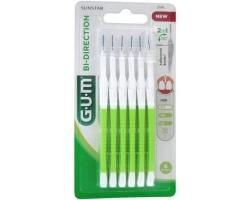 Gum 2114 Bi-Directional Μεσοδόντια βουρτσάκια για Αποτελεσματική Αφαίρεση της Πλάκας 0.7, 6 τεμάχια