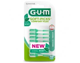Gum 670  Soft Picks Comfort Flex Cool Mint Medium Μεσοδόντια Βουρτσάκια, 40 τεμάχια