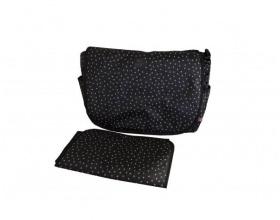 My Bag's, Τσάντα Καροτσιου με Γάτζους για να Κρεμιέται στο Καρότσι και Υπόστρωμα Αλλαγής Πάνας Χρώμα Μαύρο, 1τμχ