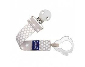 Chicco Pacifier Fashion Clip Κλιπ Πιπίλας Xρώμα Μπέζ 0m+, 1 τεμάχιο