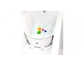 BabyDam Διαχωριστικό Μπανιέρας για να μετατραπεί η μπανιέρα των μεγάλων σε παιδική Χρώμα Λευκό-Γκρί, 1τμχ