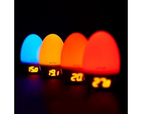 Gro Egg 2 με USB Θερμόμετρο με Φωτεινή Εναλλαγή χρωμάτων Ανάλογα με την Θερμοκρασία Δωματίου, 1 τμχ