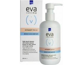 InterMed eva intima Extrasept PH3.5 Minor Discomfort Υγρό Καθημερινού Καθαρισμού Ευαίσθητης Περιοχής με Φυσική Αντιμυκητιασική Δράση, 250ml