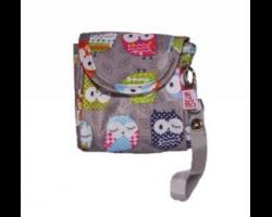 My Bag's Θήκη για Πιπίλες με Κουκουβάγιες Χρώμα Γκρι, 1τεμ
