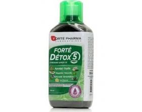 Forte Pharma Forte Detox 5 Συμπλήρωμα διατροφής για αποτοξίνωση & καθαρισμό του οργανισμού 500ml