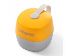 BabyOno Θήκη Πιπίλας Χρώμα Κίτρινο- Γκρί  0m+, 1τμχ